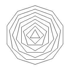 Regular polygons.