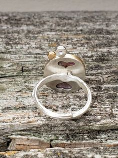 Sapphire in gold ring, bezel setting with Purple hearts carved out on the back of setting,size Purple Sapphire, Natural Sapphire, Crystal Names, Twig Ring, Wide Band Rings, Gifts For Mom, 18k Gold, Gold Rings, Sterling Silver