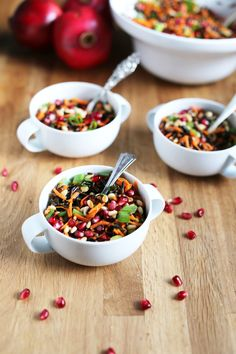 Wild rice salad with pomegranates