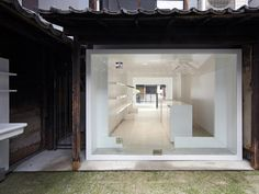 Architect Keiichi Hayashi of Japan has converted this traditional timber townhouse in central Kyoto into a cosmetics store.