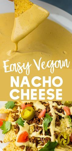 vegan recipes Easy Vegan Nacho Cheese Sauce will make it easier to give up cheese! Easy Vegan Nacho Cheese Sauce will make it easier to give up cheese! Delicious on nachos. Vegan Cheese Recipes, Vegan Mexican Recipes, Vegan Cheese Sauce, Vegan Sauces, Vegan Dishes, Vegetarian Recipes, Cheese Sauce For Nachos, Broccoli Cheese Sauce, Dairy Free Nacho Cheese