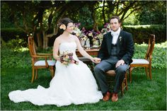 Dogwood Party Rentals | Dining Table & Chairs | Pride and Prejudice Wedding Inspiration by Shannon Morse Photography