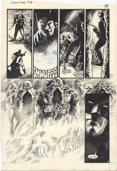 travisellisor: page 19 from Swamp Thing by John Totleben Comic Book Pages, Comic Books Art, Comic Art, Book Art, Ink Illustrations, Illustration Art, Artist Pencils, Book Creator, Black White Art