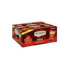 Snyder's Mini Pretzels 1.5 oz, 36-Pack for $21