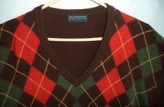 Mens 90s Superb Scotch House V Neck Jumper by MushkaVintage3