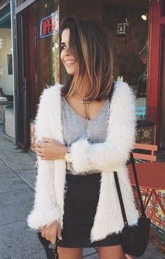 Alma crop cocoon sleeve curly faux fur jacket