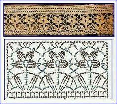 CROCHET | Crochet Lace | Flower Edging | Motif | ~~ http://www.Pinterest.com/bonnielbuchanan ~~