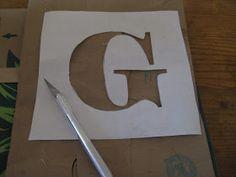 How to paint letters on burlap.  Burlap Banner Tutorial