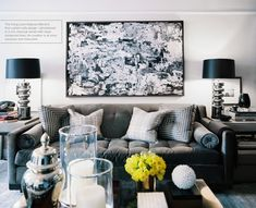 Masculine living room designed by Ron Marvin. Via Lonny Magazine June/July 2012.