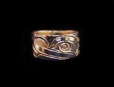 """Frog Ring, Joe Decoteaux. Sterling silver, 0.38"""". Northwest Coast First Nations Jewelry."""