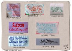 Lilly Pulitzer Labels 60-80s...now these are labels from TRUE vintage Lilly items! A 2003 dress is not vintage, dahlings...  Learn your Lilly, please!  ~xx  PS Love your Lilly too!