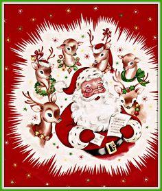 50's Santa & Reindeer