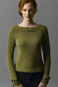 Bow-Tie Pullover Sweater Free Knitting Pattern and more pullover knitting patterns