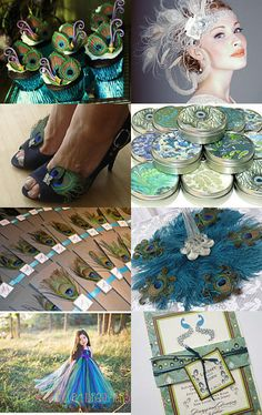 Peacock wedding with Etsy
