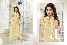 Heenakhan Georgette Straight Suit (CATALOG - heenakhan-heliyana-vol2)  Fabric Top - Georgette Fabric Bottom - Santoon Fabric Dupatta - Chiffon From - Semi Stitched Work - Embroidery