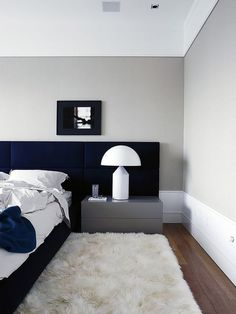 Here we showcase a a collection of perfectly minimal interior design examples for you to use as inspiration. Check out the previous post in the series: Minimal Gray Bedroom, Trendy Bedroom, Modern Bedroom, Bedroom Decor, Bedroom Lamps, Wall Lamps, Double Bedroom, Bedroom Bed, Bedroom Lighting