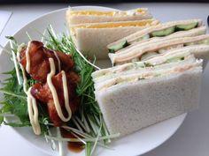 サンドイッチとから揚げ