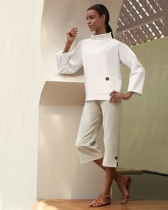 endlessly chic work out wear Zen Style, Buddha Zen, Shirt Pins, Vogue, Sophisticated Style, Timeless Fashion, Neiman Marcus, Urban Outfitters, Capri Pants