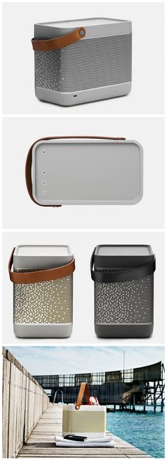 Bang & Olufsen Beolit 12 - A powerful and portable one-point music system… Bluetooth, Wireless Speakers, Portable Speakers, Audiophile, Bang And Olufsen, Speaker Design, Higher Design, Sound Design, Texture Design