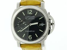 Panerai Luminor Marina PAM 00048 Stainless Steel Men's Leather Watch