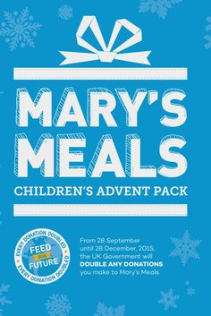 Children's version of the Mary's Meals Advent pack.