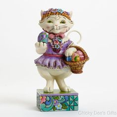 Jim Shore Pint Sized Easter Cat 4037609 Perfect Day for an Egg Hunt NEW