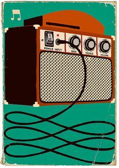 - Amplifier. Paul Thurlby. #music #artwork #amplifier #musicart www.pinterest.com/TheHitman14/music-art-%2B/