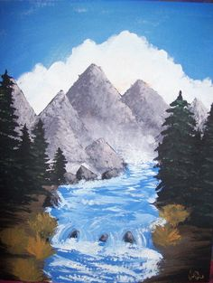 Painting I did from a Bob Ross video