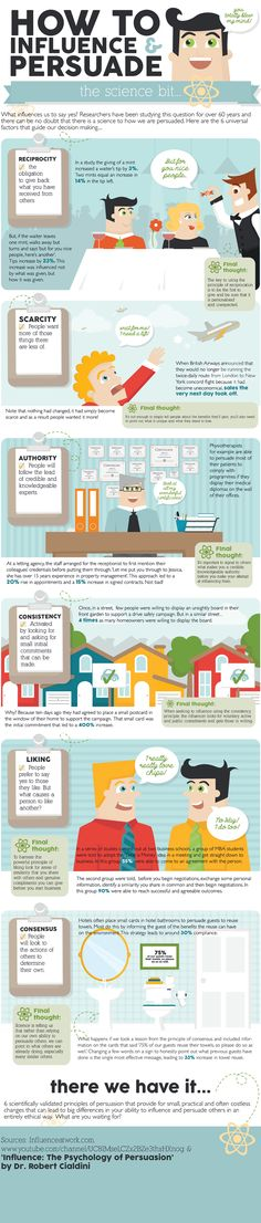 Influence: Be the First to Give & Give  Back - [INFOGRAPHIC] - @SocialMedia2Day | 6 Scientific Principles of Persuasion #Influence #Marketing