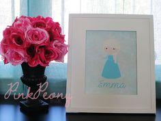FROZEN Princess Queen ELSA Inspired 8x10 by shopwithpinkpeony