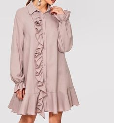 Fashion Now, Work Fashion, Fashion Dresses, Womens Fashion, Fashion Trends, Stunning Dresses, Nice Dresses, Dresses With Sleeves, Fashion Design Portfolio