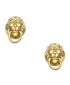 Stately studs: door knocker earrings