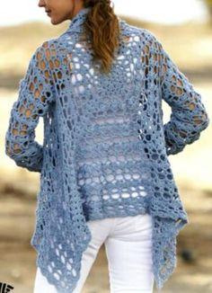 Gilet Granny simplissime, enfin presque ! - La Grenouille Tricote  http://lagrenouilletricote.com/manteau-au-crochet