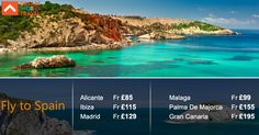 Find Great Deals on Flights to Spain from Dream World Travel.Get  cheap Flight Deals, Holiday Deals and Hotel Deals to your Favourite   destinatons worldwide at www.dwtltd.com. #CheapFlights #Flights #Deals  #To #Spain