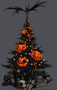Have a very merry halloween! Halloween Rocks, Theme Halloween, Halloween Trees, Halloween Home Decor, Halloween Pictures, Halloween Boo, Disney Halloween, Halloween Projects, Halloween House