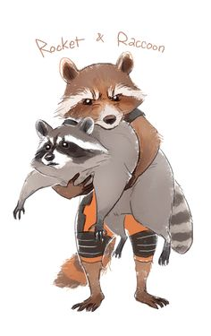 Rocket n Raccoon by Hallpen.deviantart.com on @DeviantArt