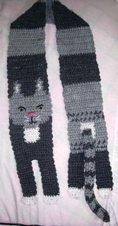 Kitty Scarf Crochet pattern by Allison Cohen | Crochet Patterns | LoveCrochet
