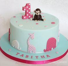 Baby monkey cake by Pompom Cakes, via Flickr