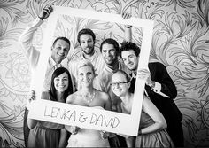 anunkblog - diy frame, polaroid, wedding