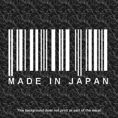 MADE IN JAPAN BARCODE DECAL RACING JDM ILL ILLEST DOPE DRIFT DRIFTING FAST
