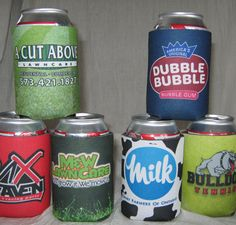 Full color all sides and bottom of your wedding koozies.