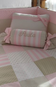Super Ideas For Patchwork Kissen Mit Namen - Diy Crafts - moonfer Girls Bedroom, Girl Room, Baby Room, Cute Pillows, Diy Pillows, Cushions, Baby Decor, Baby Sewing, Kids And Parenting