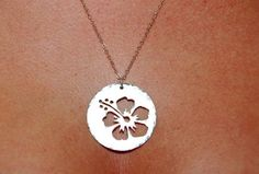 Large Hand Pierced Cutout Pendant Necklace by ohanabylea on Etsy, $60.00