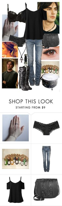 """""""Charmed Demon Hunting with Chris"""" by werewolf-gurl ❤ liked on Polyvore featuring Victoria's Secret, Balmain, Patricia Nash and Xhilaration"""