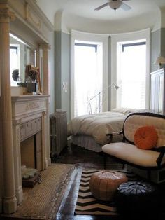 the bed part of the bedroom is incidental, it's otherwise a cosy sitting room