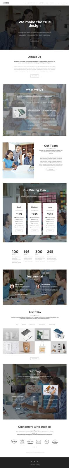 Milford is minimal creative responsive #WordPress #template with grid system layout.