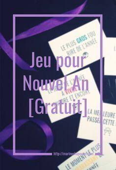 Jeu pour le repas de Noël ou du Nouvel An à imprimer gratuitement / New Year's Game [Free Printable] par Marine Chapoutot