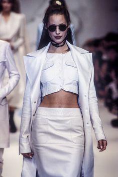 Christy Turlington walked for Karl Lagerfeld RTW S/S 1993
