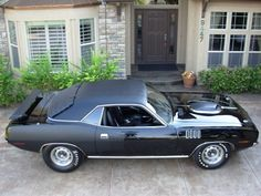 1971Triple Black 426 Plymouth hemicuda