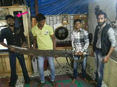 90kg sword of marathi king chatrpati shivaji maharaj of maharashtra. Hats off..